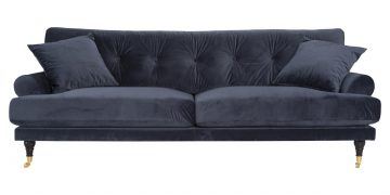 DCS015 - Andrew 3-seat sofa - midnight blue velvet